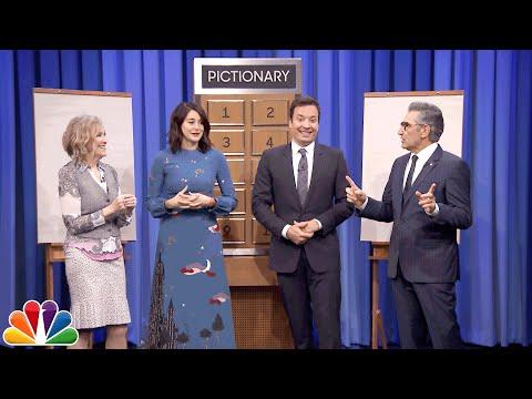 Pictionary with Shailene Woodley, Eugene Levy and Catherine O'Hara