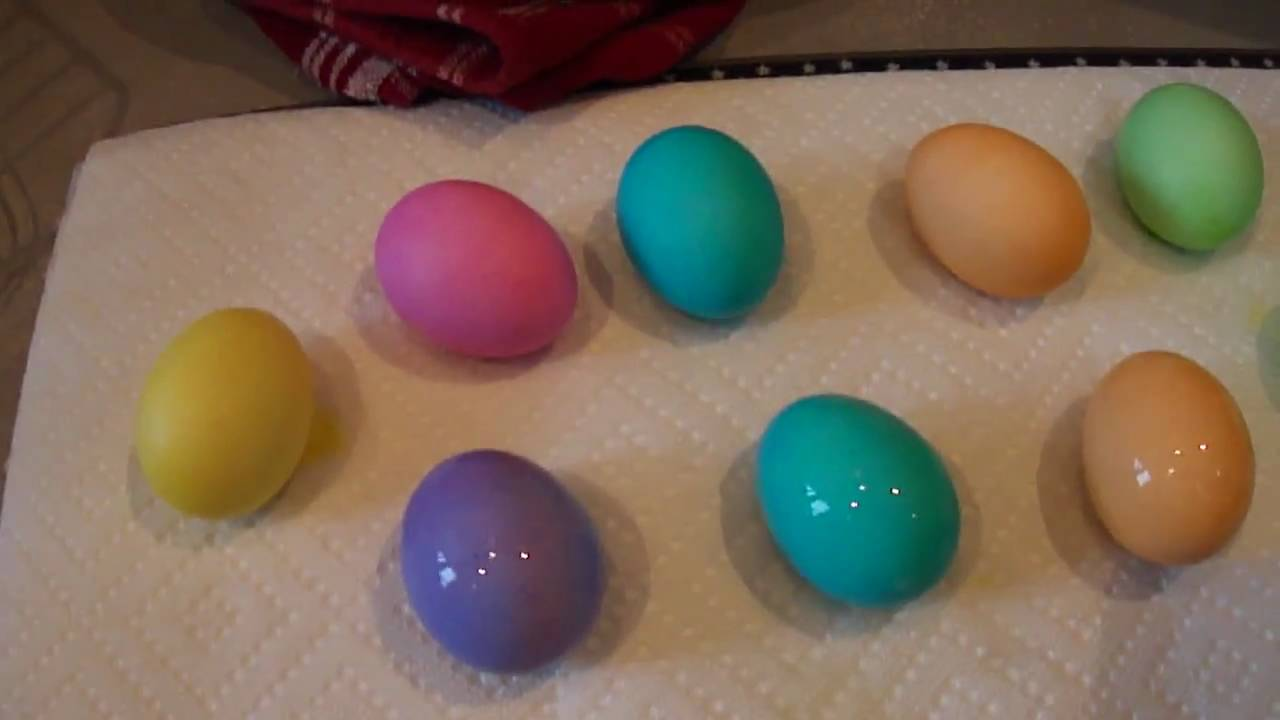 coloring easter eggs with peeps youtube