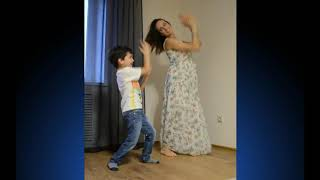 Mom and her son Platon dancing together (russian song)
