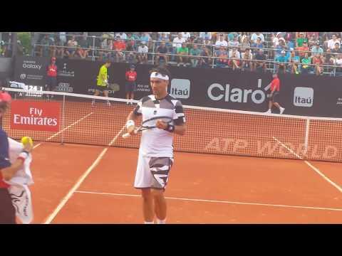 Fabio Fognini Vs Tommy Robredo Rio Open 2017 Court Level