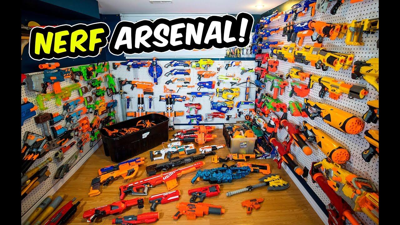 Nerf Gun Arsenal WAY TOO MANY NERF GUNS...