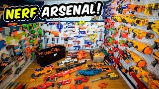 WAY TOO MANY NERF GUNS! (Nerf Arsenal Update | Over 175 Blasters)