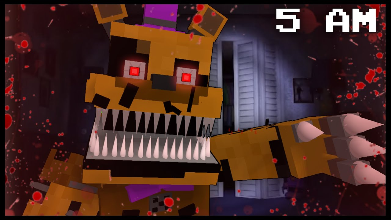 Minecraft FNAF - Nightmare Fredbear | 5 AM (FNAF Minecraft Roleplay) -  YouTube