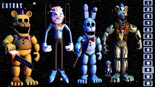 - FredBear and Friends Left to Rot EXTRAS ALL ANIMATRONICS