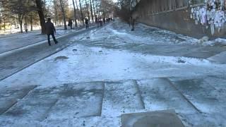 В Симферополе тротуары ждут оттепели