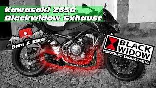 KAWASAKI Z650 BLACKWIDOW EXHAUST * UNBOXING * MOUNTING * SOUND TEST