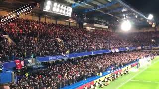 Manchester United fans at Chelsea
