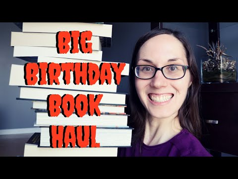 BIG BIRTHDAY BOOK HAUL | Horror, SciFi & Fantasy #booktube #bookhaul