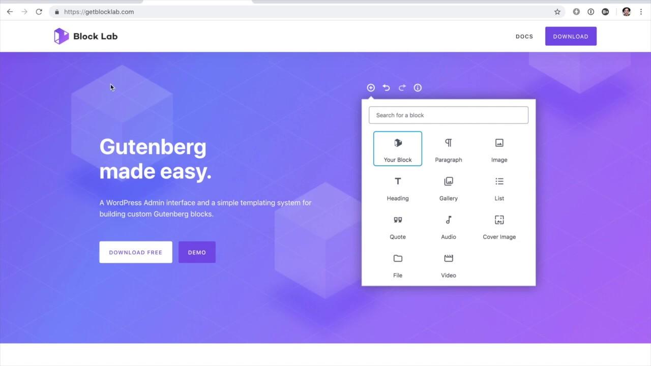 Block Lab - Custom Gutenberg Blocks Made Easy!