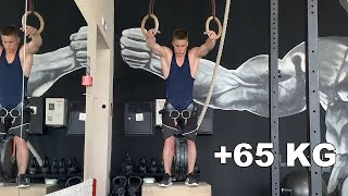 Weighted Muscle Up +65 Kg (World Record)