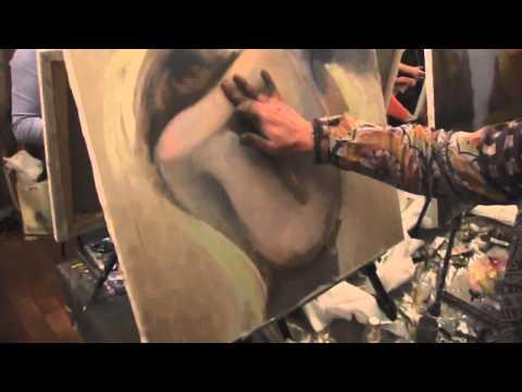 Как рисовать пейзаж маслом видео-урок