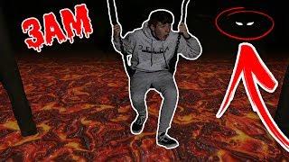 *3AM* HAUNTED PARK FLOOR IS LAVA CHALLENGE!!! (3AM CHALLENGE) 😱