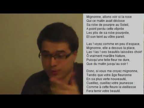 ENTRAINEMENT BAC ORAL DE FRANCAIS : Ode à Cassandre de Pierre de Ronsard