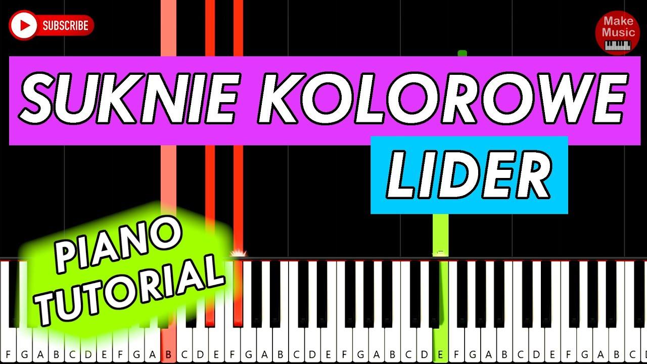 Suknie Kolorowe Lider Piano Keyboard Tutorial Youtube