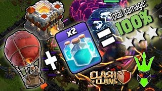 Clash of Clans!! New clone spell event TH11 Vs 1 Loon !!! Pushing with Barch