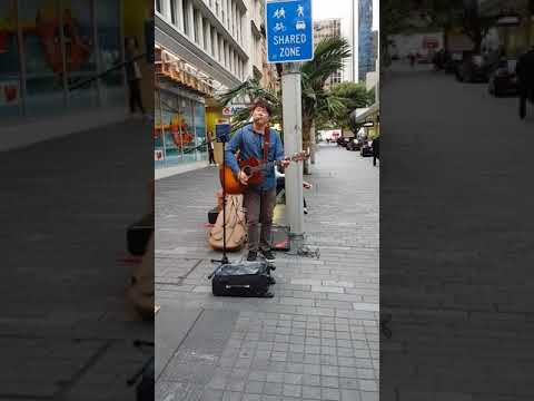 Lost stars sang by a Korean street performer on Queen St. Auckland NZ