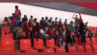 جماهير الرجاء الرياضي تخلق الحدث بزامبيا بقيادة سكوادرا