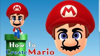 Mii Maker: How To Create MARIO!