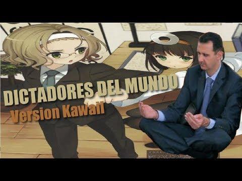 Dictadores del mundo en versión kawaii (Broz, Hernández, Al-Assad y Barre)