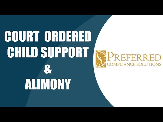 Court Ordered Child Support/Alimony In an LIHTC Community