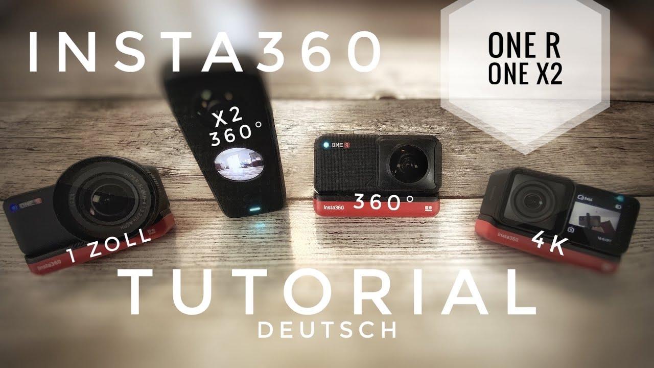 Insta360 One R Tutorial - 360° 4K und 1 Zoll Modul - Insta360 One X2 Effekte Tutorial Deutsch