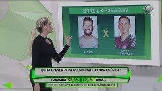 Comentaristas comparam cada posição de Brasil x Paraguai