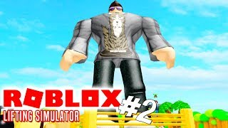 Lifts a BOAT and gets BIGGER! -Roblox Lifting Simulator English Ep 2 with ComKean