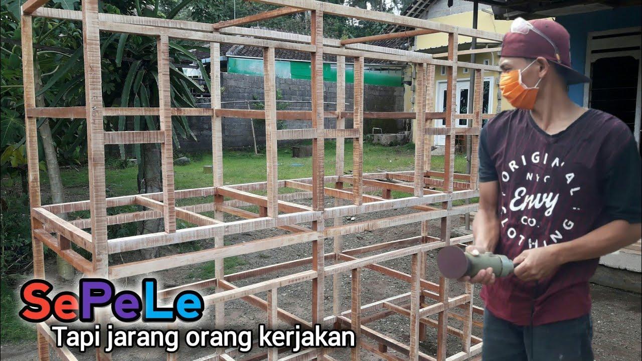 Membuat Rangka Kandang Ayam Bangkok Agar Lebih Terlihat ...