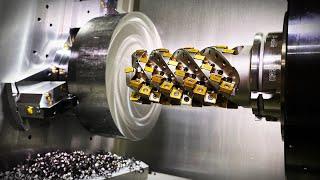 60 HP Makino Cuts 150 Pound Titanium Aero Part With Kennametal 65 Insert Beast Cutter
