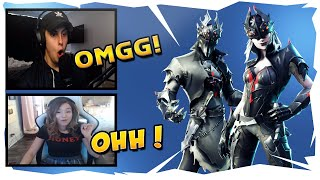 "Streamers Reacts To ""New"" Spider Knight & Arachne Skin"" New Skins In Item Shop Fortnite Funny"