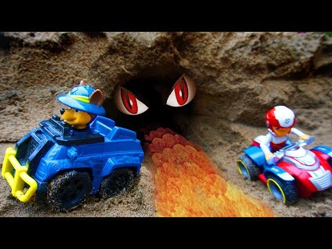 Paw Patrol Vehicle Toy Go Through A Tunnel | Toys For Kids
