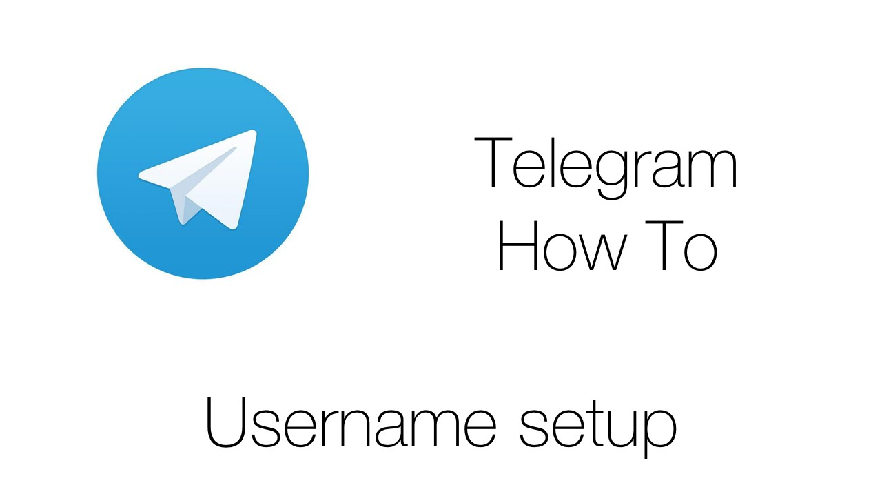 How To Telegram Username - YouTube