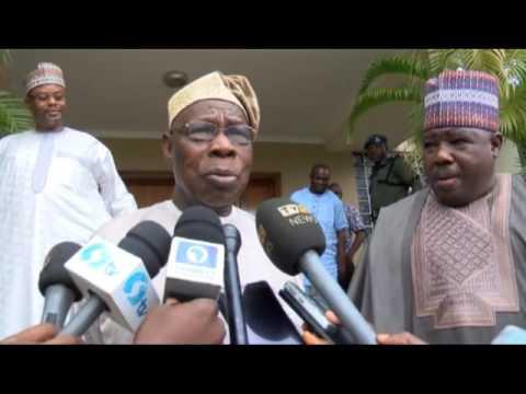 Ali Modu Sheriff Visits Chief Olusegun Obasanjo