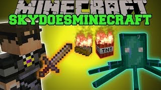 Minecraft: SKYDOESMINECRAFT MOD (BUDDER EXPLOSIVES, SQUID BOSS, & MORE!) Team Crafted Mod Showcase