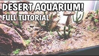 EPIC DESERT AQUARIUM SETUP - With Live Underwater