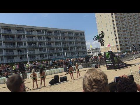 8.26.17  Freestyle Motocross Air Jump - East Coast Surfing Championships Virginia Beach, Va