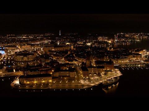 5542. Riddarholmen (Stockholm) Drone Stock Footage Video
