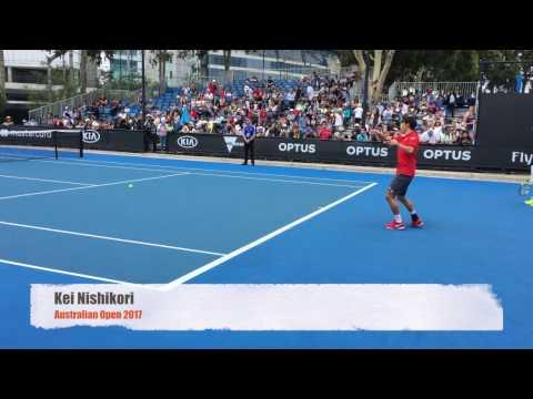 Kei Nishikori 4K - Practice Courts - Australian Open 2017