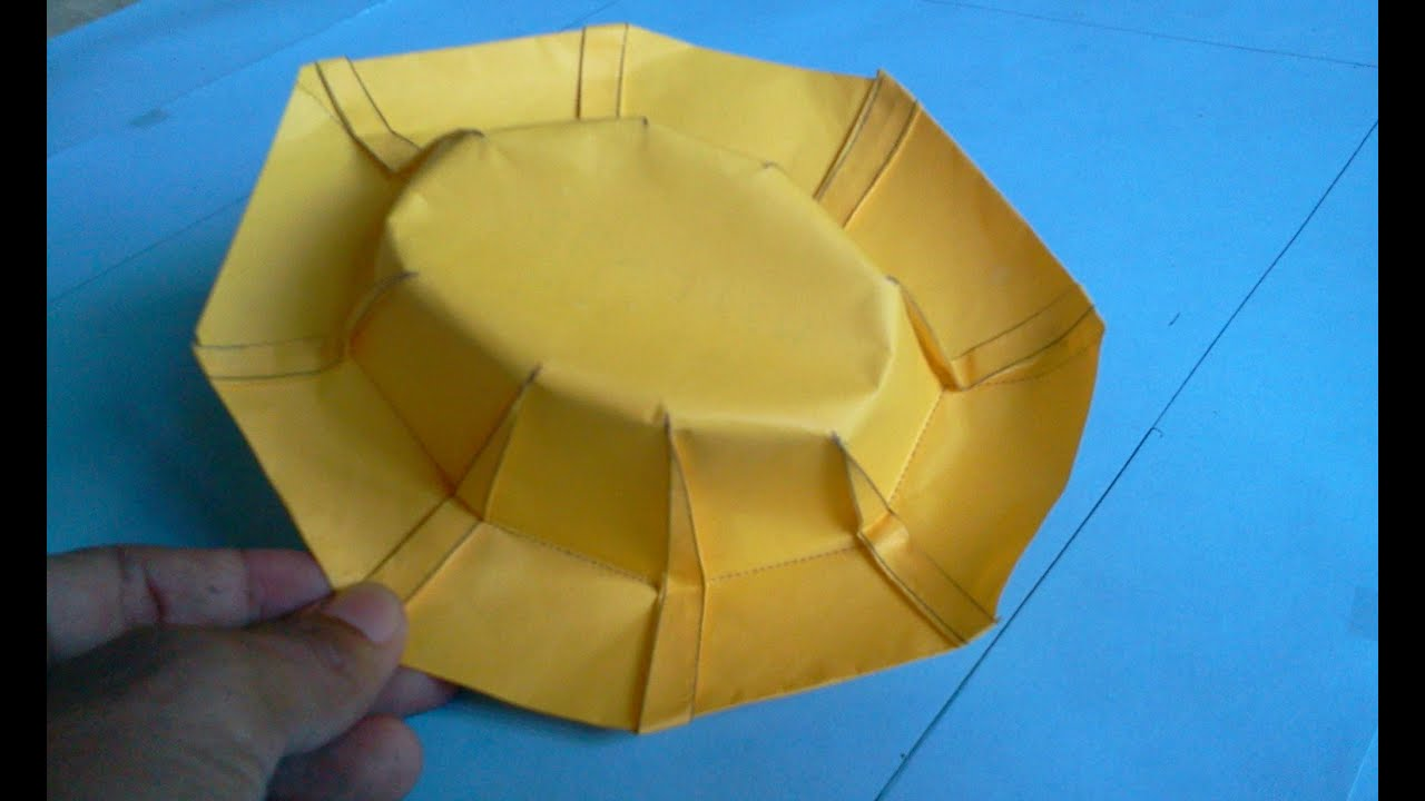 How to make Origami hat (robert j lang) - YouTube - photo#6
