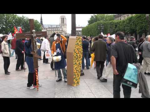 Anti-nuclear protest in Paris, France