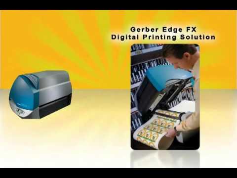 Gerber EDGE FX thermal printing system