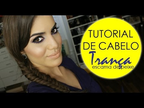 Trança escama/espinha de peixe! por Camila Coelho