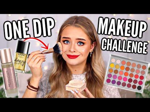 ONE DIP MAKEUP CHALLENGE!!
