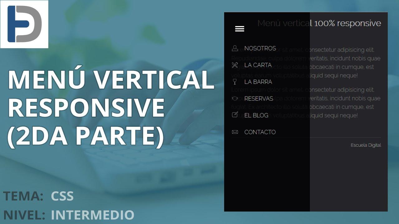 CSS: Crear un menu vertical responsive con impresionantes efectos (2da  parte)