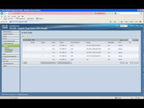 RV320 and RV325 Router Basic Configuration Tutorial - YouTube