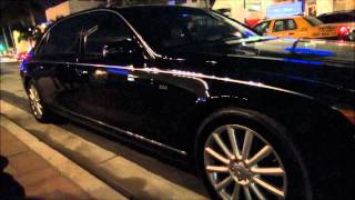 DJ Khaled and Rick Ross' Rolls Royce and Maybach in Miami Beach! Video