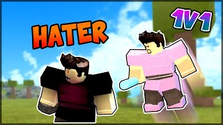 FIGHTING A *HATER* (1v1) | ROBLOX BOOGA BOOGA