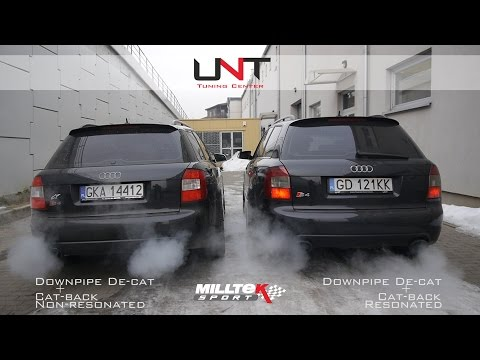 Audi S4 V8 4.2L w/ Milltek Sport Exhaust - Non-resonated vs Resonated | UNT Tuning Center