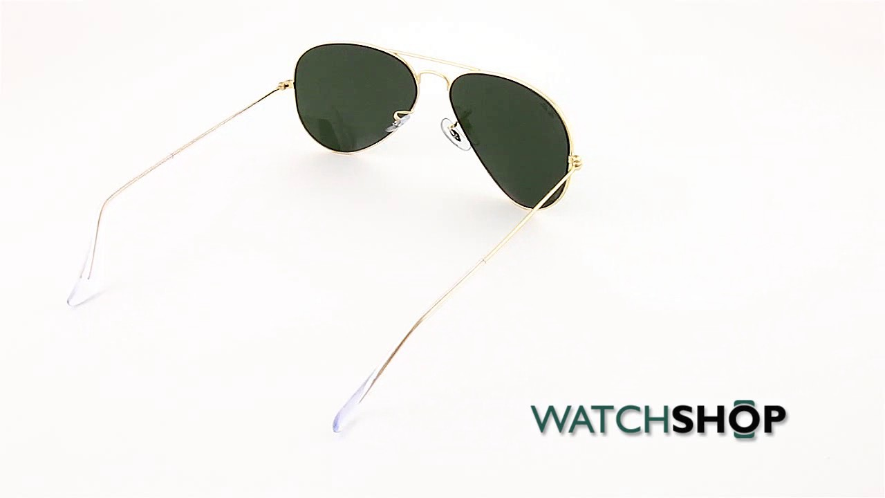 f16d84c4f Ray-Ban Men's Aviator Classic Sunglasses (RB3025-L0205-58) - YouTube