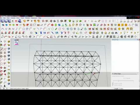 how to make space frame on google sketchup